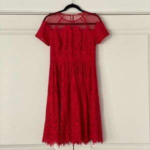 Like New!! Red Lace Maggy London Dress